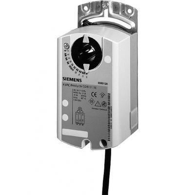 SIEMENS GDB166.1E - Привод воздушной заслонки, поворотный, 24 В / DC 0…10 В, 5 НМ, 150 С, 2 ПЕРЕКЛЮЧАТЕЛЯ