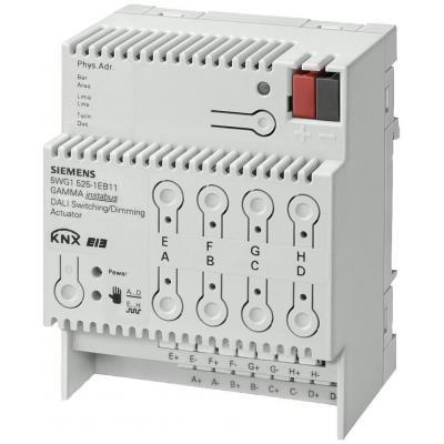 SIEMENS N525E01 - Диммер/Выключатель N 525Е, 8 ВЫХОДОВ, ПО 8ХDALI ИЛИ 8ХEVG НА КАЖДЫЙ ВЫХОД, ДЛЯ УСТАНОВКИ НА DIN-РЕЙКУ, 4 ТЕ