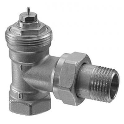 SIEMENS VEN120 - Клапан радиаторный угловой, 2-ходовой седельный, DIN, 2-Х ТРУБНАЯ СИСТЕМА, PN10, DN20, KV 0.31...1.41
