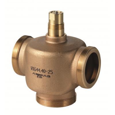 SIEMENS VXG44.20-6.3 - Клапан регулирующий, 3-ходовой седельный, ВНЕШНЯЯ РЕЗЬБА, PN16, DN20, KVS 6.3