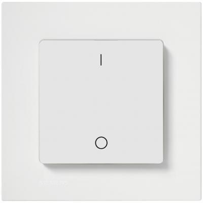 Настенный переключатель EnOcean, с символами I/O, титаново-белый AP221/11