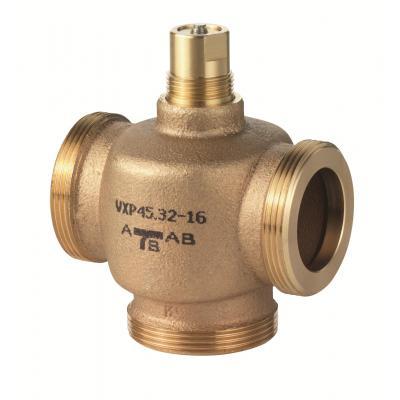 SIEMENS VXP45.10-0.63 - Клапан регулирующий, 3-ходовой седельный, ВНЕШНЯЯ РЕЗЬБА, PN16, DN15, KVS 0.63